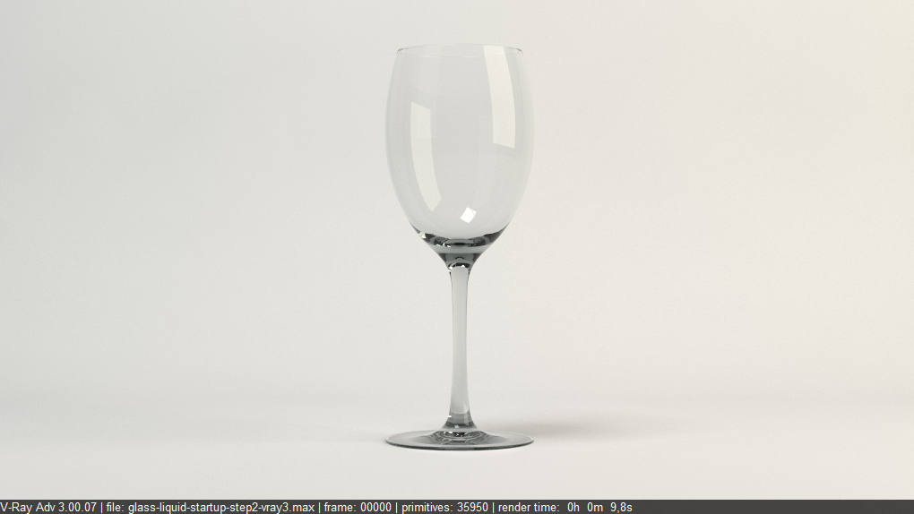 free vray tutorial rendering glass and liquid with vray - Glass Reflection