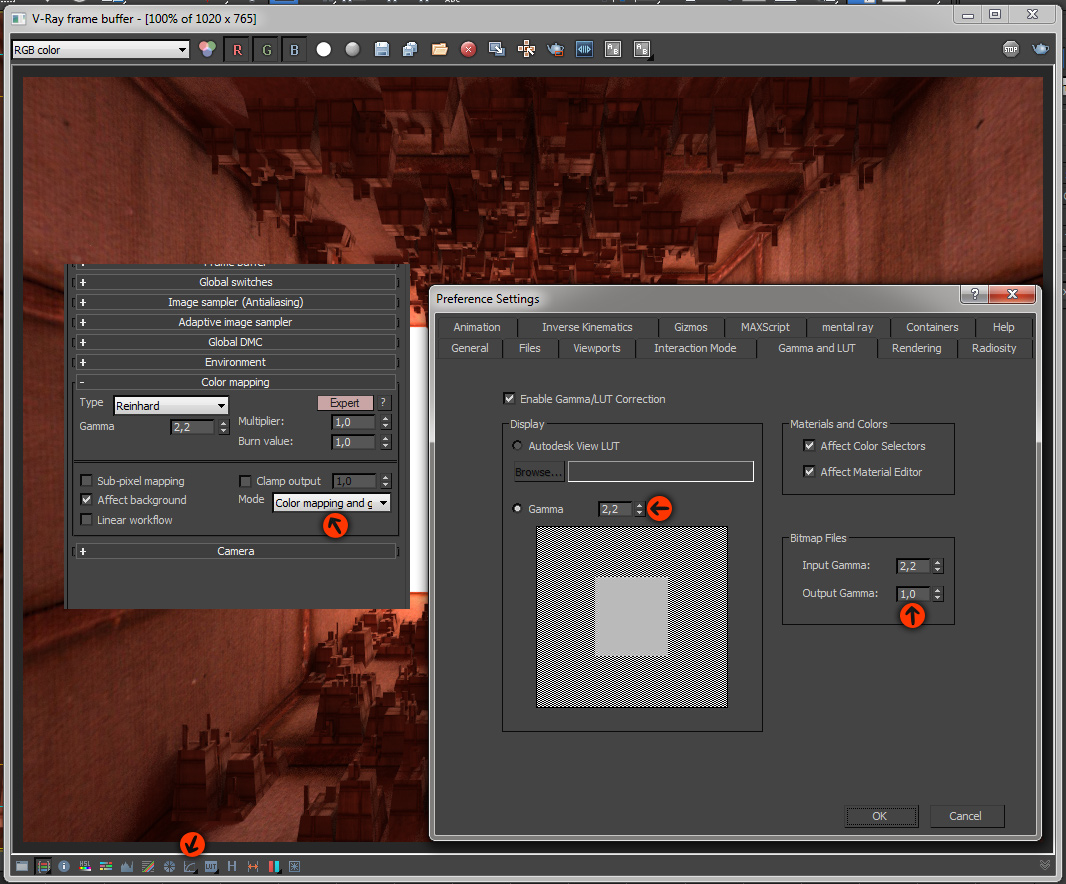 FREE Vray Tutorial - Gamma 2 2 setup or linear workflow - page 1